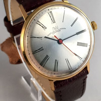 Soviet Russian watch Luch, slim Men's watch ,23 jewels, made in Ussr 60s, Gold Plated Au 20