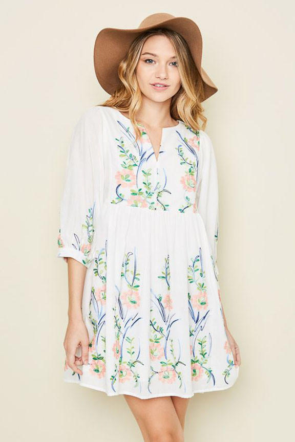 eb36a588f55 Floral Embroidered Dress from Thistle   Finn