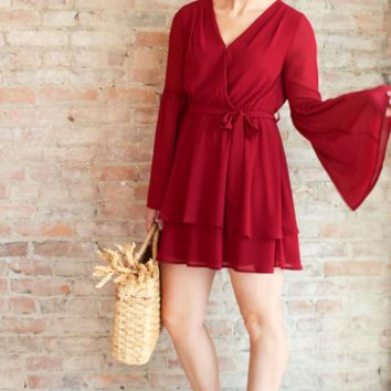 Julia Dress - burgundy