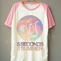 5 Second Of Summer T-Shirt 5Sos T-Shirt Sky T-Shirt Short Sleeve Shirt Short Baseball Shirt Jersey Unisex T-Shirt Women T-Shirt Men T-Shirt