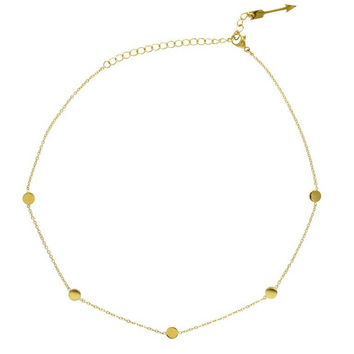 Ellie Vail | Misha Choker Gold Necklace