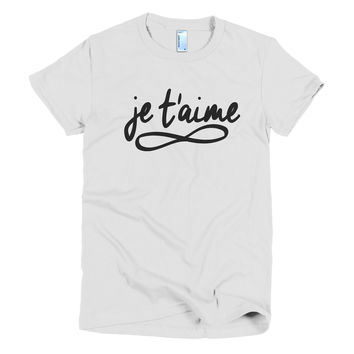 "Women's ""je t'aime"" T-Shirt"