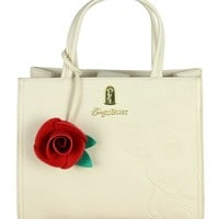 Disney Loungefly x Beauty and the Beast Belle Embossed Crossbody Tote Bag