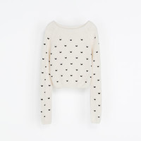 SWEATER WITH EMBROIDERED BUTTERFLIES - Knitwear - Woman | ZARA United States