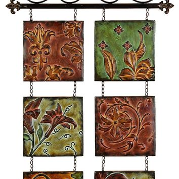 Botanical Scroll Metal Wall Decor -Benzara