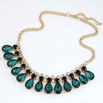 Jewelry Gem statement Gold Plated Necklaces & Pendants choker necklaces for women
