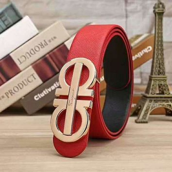 Tagre™ Ferragamo Women Fashion Smooth Buckle Belt Leather Belt
