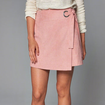 Womens Faux Suede Wrap Skirt | Womens Bottoms | Abercrombie.com