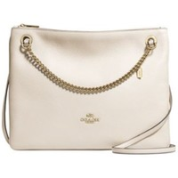 COACH CONVERTIBLE CROSSBODY IN PEBBLE LEATHER | macys.com