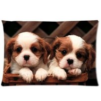 "Cute Puppy Pillowcase Covers Standard Size 20""x30"" CC4393"