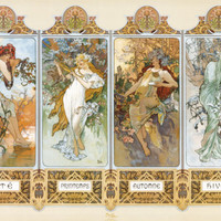The Four Seasons Posters by Alphonse Mucha at AllPosters.com