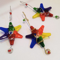 LGBT Fused Glass Stars - Rainbow colors