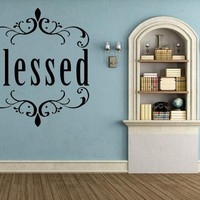 Blessed Inspirational Christian Wall Decal