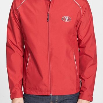 Men's Big & Tall Cutter & Buck 'San Francisco 49ers - Beacon' WeatherTec Wind & Water Resistant Jacket