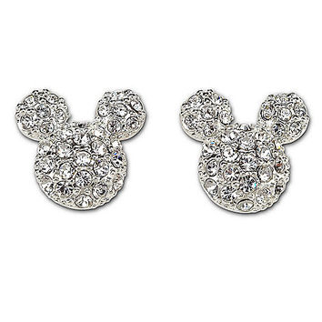 Pavé Crystal Mickey Mouse Earrings by Disney Couture | Disney Store