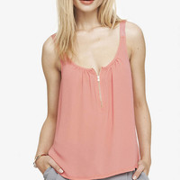 ZIP FRONT CAMI from EXPRESS