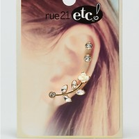 Crystal Rose Cuff Earring | Earrings | rue21