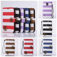 Anchor Flip Leather Card Wallet Case For Apple iPhone 6 Plus 5 5S 4 4S ,Samsung Galaxy Note 3 S5 S4 S3 ,LG G2 ,HTC one2 M8 = 1704176772