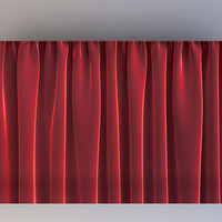 Faux Scarlet Red Velvet Curtain - Photography Backdrop