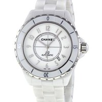 Chanel Fashion Ladies Men Personality White Ceramic Steel Watch Couple Wristwatch I
