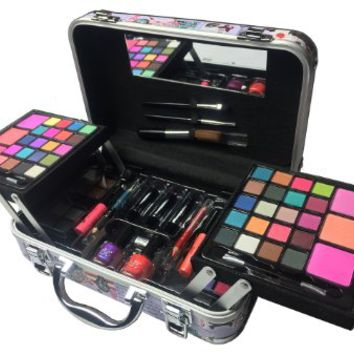 BR Carry All Trunk Train Case Make Up Set Artist Design (Artistic)