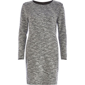 River Island Womens Grey marl boucle bodycon dress