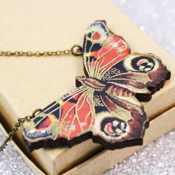 Butterfly Necklace Wooden