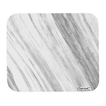 White Marble Pattern Mousepad All Over Print by TooLoud
