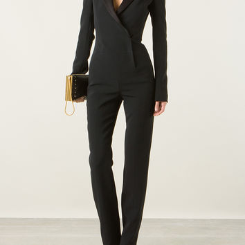 MUGLER FITTED BLACK JUMPSUIT