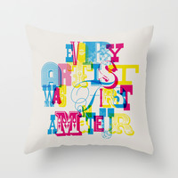 Quote Throw Pillow by Roberlan Borges