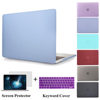 Hard Cover For Macbook Pro 13 A1706 Pro 15 A1707 with TouchBar Laptop Bag For Mac Book Pro 13 A1708