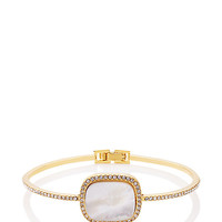 Kate Spade Madison Ave. Collection Empire Pave Hinge Bangle Cream ONE