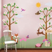 Tree Wall Stickers Forest Wall Mural for Girls by MyWallStickers