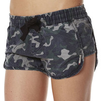 SURFSTITCH - WOMENS - SHORTS - MINI SHORTS - HENLEYS IN THE WILD SHORT - CAMO
