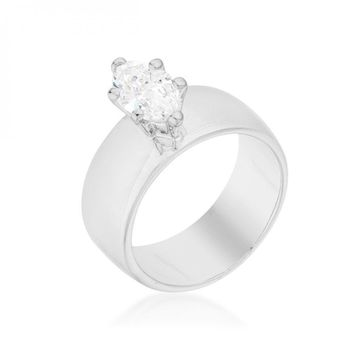 Solitaire Marquise Engagement Ring (size: 06) R08446R-C01-06