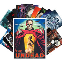 Postcard Pack (24 cards) Undead Zombies Skeletons Vintage Horror Thriller Movies Posters CC1003