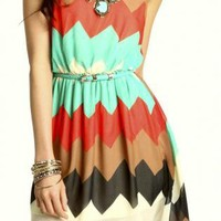 Tiera Chevron Dress