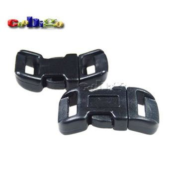 "10pcs 7/16"" (11mm) Side Release Buckle Curved Black Parachute 550 Paracord Bracelet Dog Collar Outdoor Backpack Strap Bag Parts"
