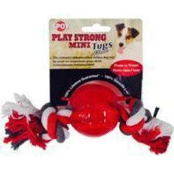 Ethical Dog - Play Strong Mini Tugs Ball With Rope Dog Toy