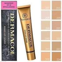 😘😘Dermacol High Cover Makeup Foundation Hypoallergenic Waterproof SPF-30 👄👄