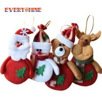 24pcs Chrismas Tree Decorations For Home Santa claus Snowman Christmas Gifts Ornaments Supplies Pendant Arbol De Navidad SD15
