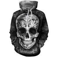 Skull 3D Print Hoodie For Men Women