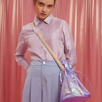BLUEerror Hologram Bucket Bag | Pink/Purple