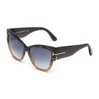 Anoushka Butterfly Sunglasses, Gray/Brown - TOM FORD - Gray/Brown