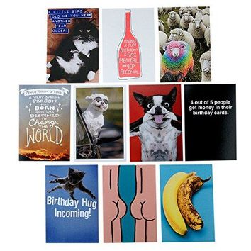 Hallmark Shoebox 10 Funny Birthday Cards Assortment - Free Shipping