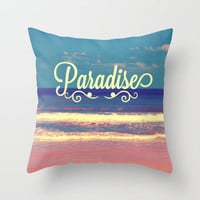 Paradise Throw Pillow by Josrick