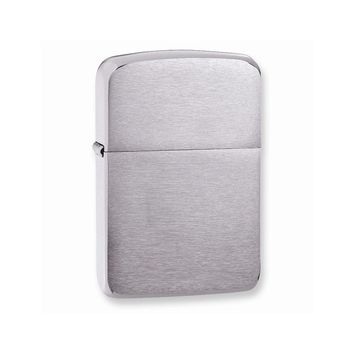 Zippo 1941 Replica Brushed Chrome Lighter - Engravable Personalized Gift Item