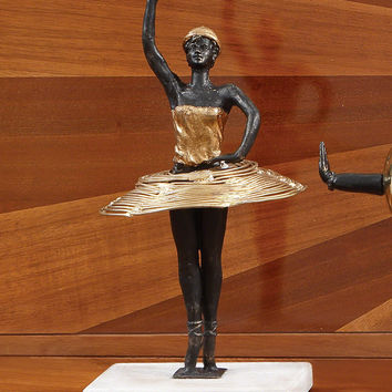 Ballerina Figurine (gold, iron)