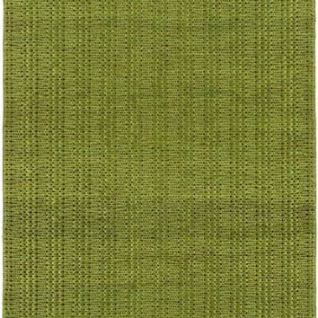 Tropics Natural Fibers Area Rug Green