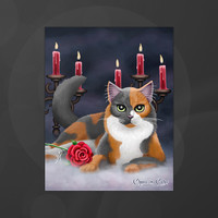 Phantom of the Opera Cat 11x14 Poster